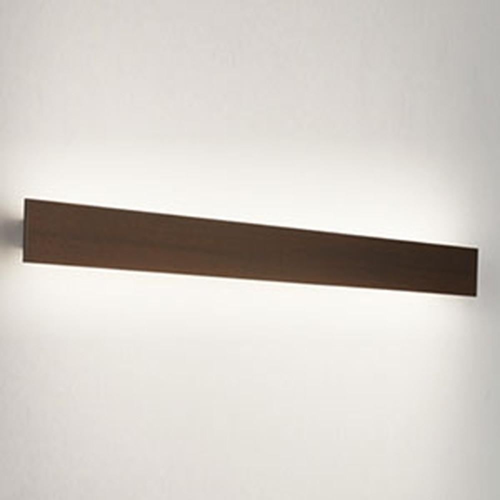 オーデリック LED一体型ブラケットライト 壁面取付専用 フラットパネル FL40W相当 電球色 木調エボニーブラウン OB255220