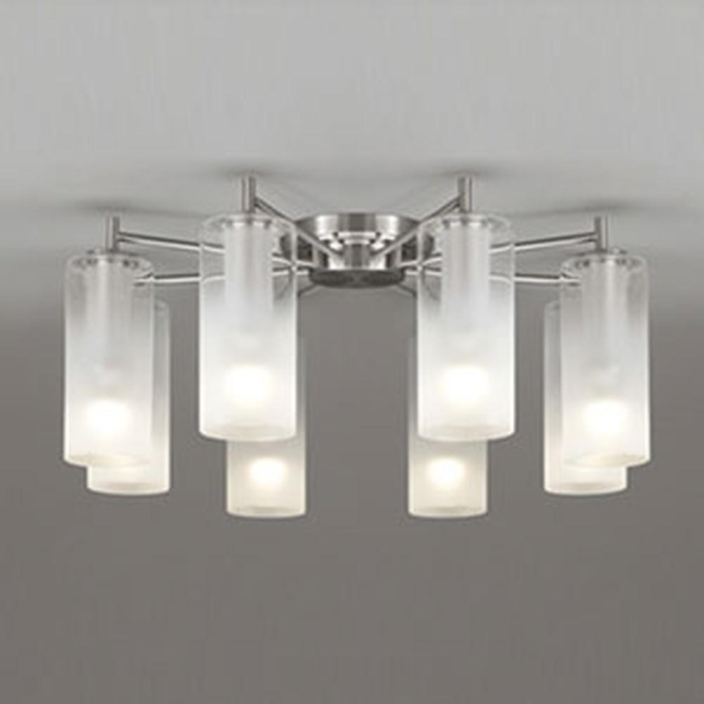 オーデリック LEDシャンデリア 《AQUA Mist》 ~10畳用 5.7W×8灯タイプ 電球色⇔昼白色 光色切替調光タイプ OC257111PC