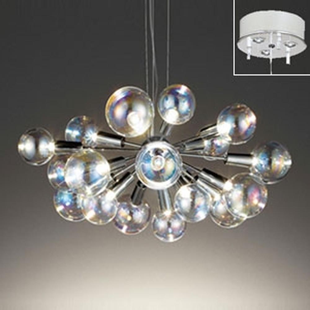 オーデリック LEDシャンデリア ~10畳用 3W×18灯タイプ 電球色 電動昇降装置対応 OC257117LD