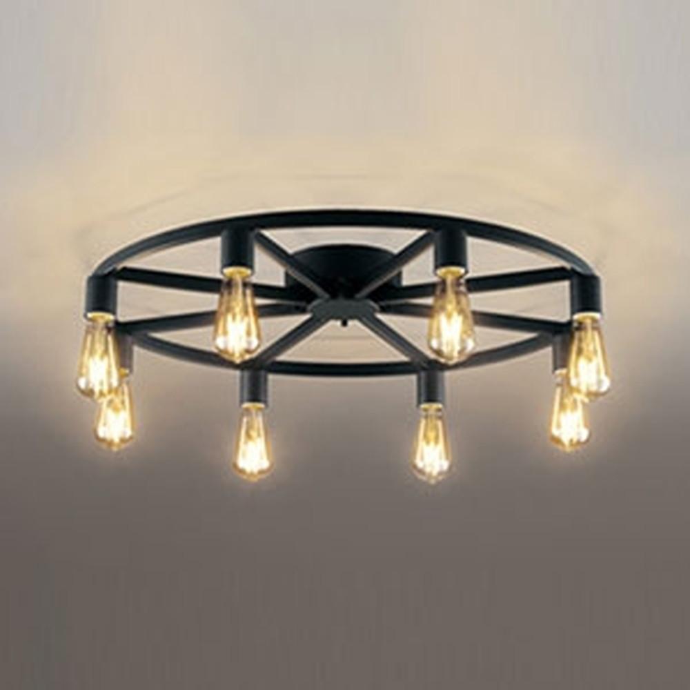 オーデリック LEDシャンデリア ~6畳用 4.2W×8灯タイプ 電球色 調光タイプ OC257121LC