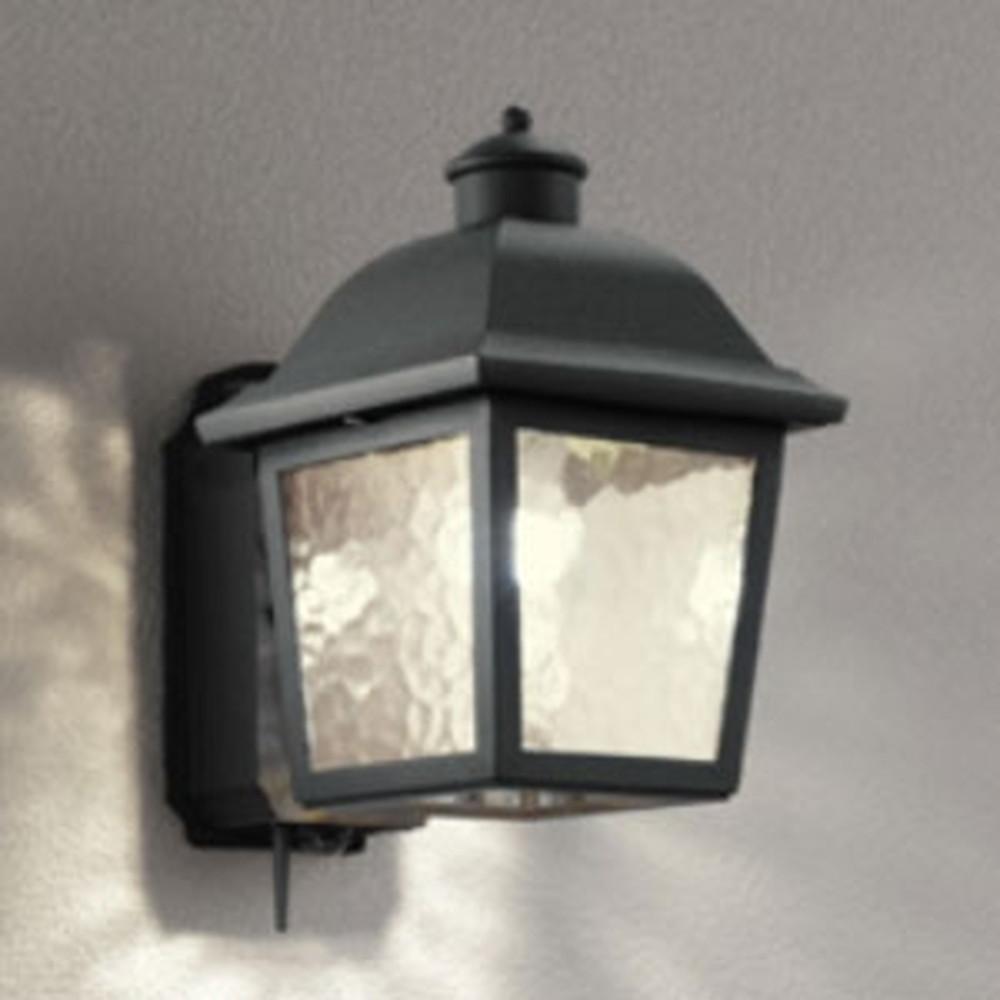 オーデリック LEDポーチライト 防雨型 白熱灯40W相当 電球色 人感センサー・Bluetooth®通信アンテナ付 黒 OG254844BC