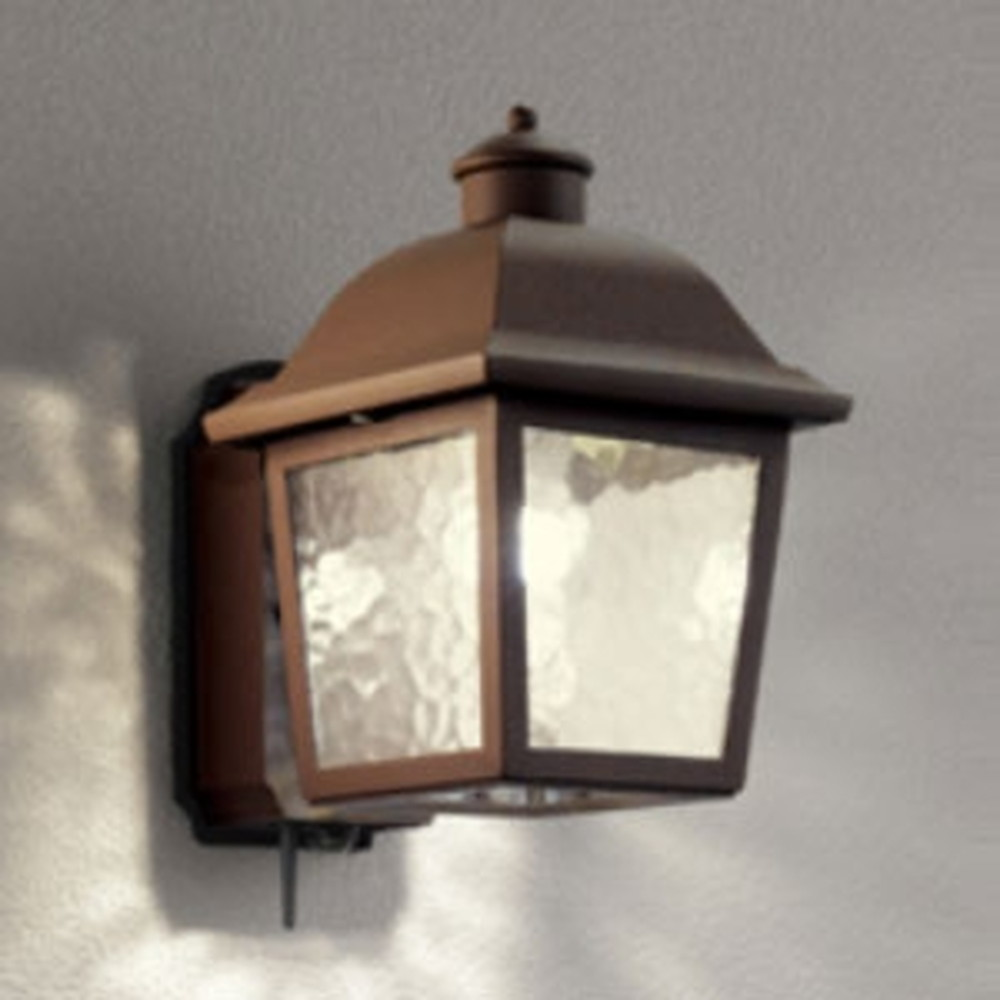 オーデリック LEDポーチライト 防雨型 白熱灯40W相当 電球色 人感センサー・Bluetooth®通信アンテナ付 鉄錆 OG254845BC