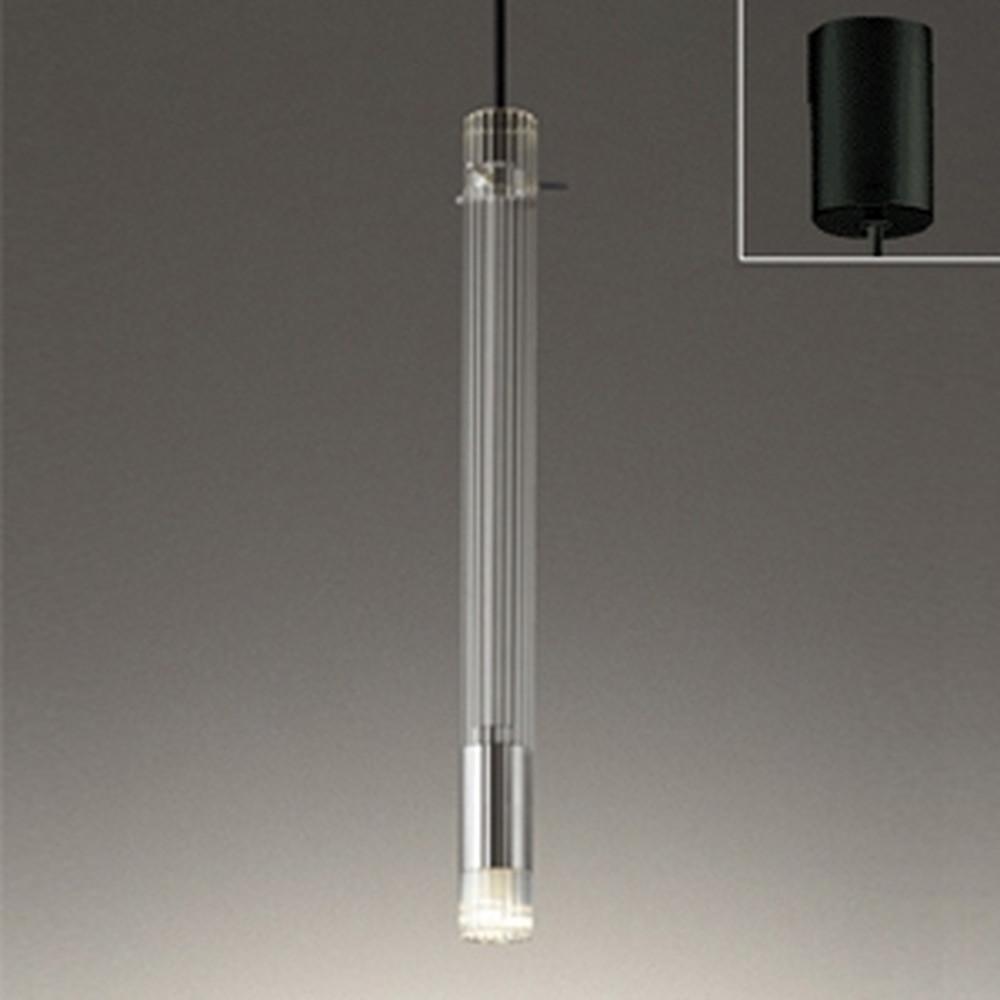オーデリック LEDペンダントライト 引掛シーリングタイプ 白熱灯30W相当 電球色 リブ入ガラス OP252459LD1