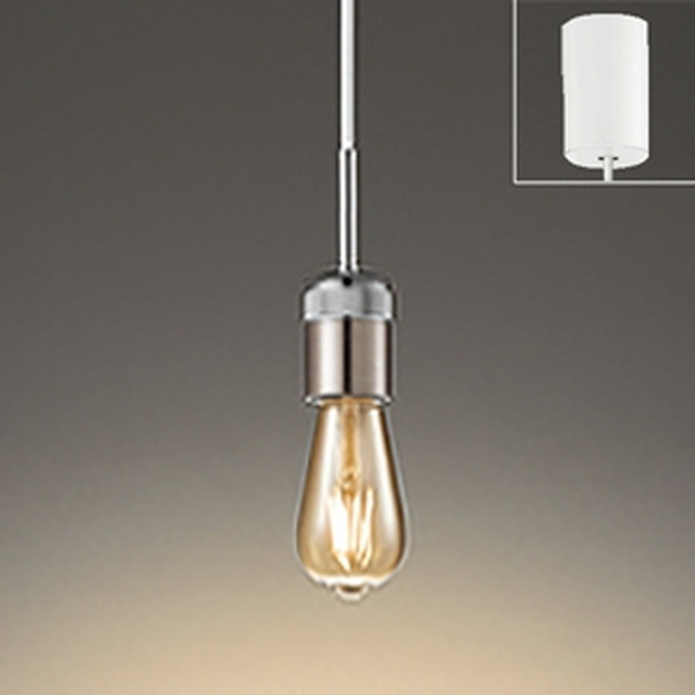 オーデリック LEDペンダントライト 引掛シーリングタイプ 白熱灯30W相当 電球色 調光タイプ クロームメッキ OP252461LC