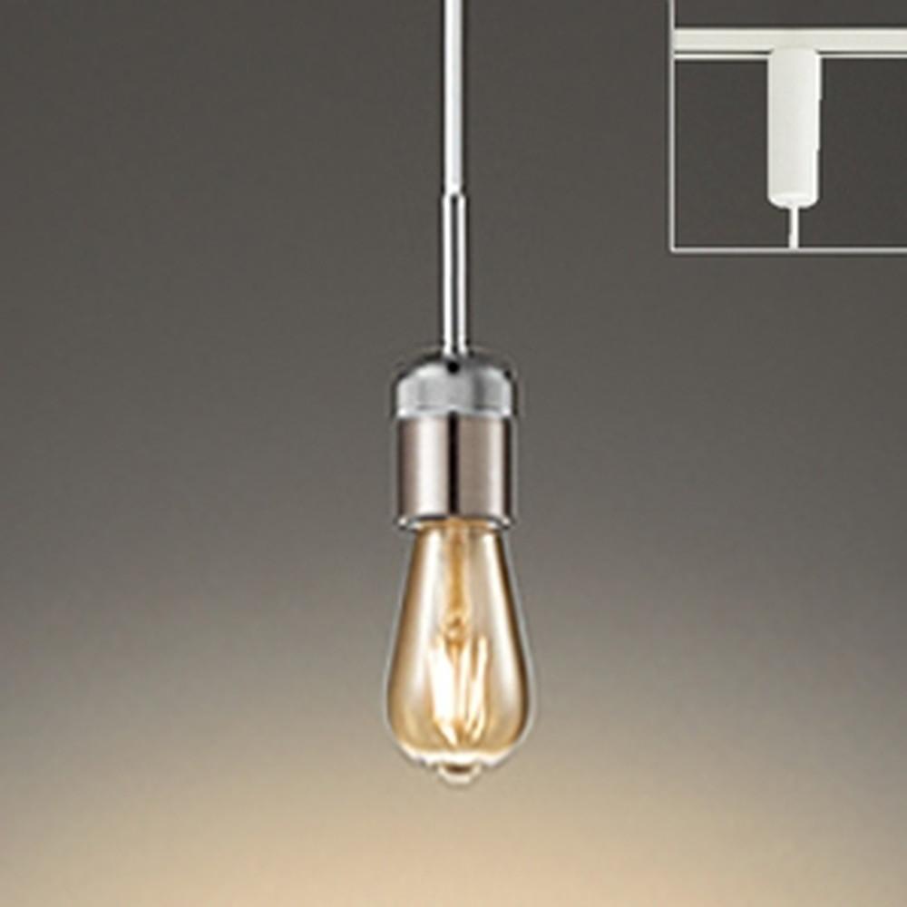 オーデリック LEDペンダントライト ライティングレール取付専用 白熱灯30W相当 電球色 調光タイプ クロームメッキ OP252462LC