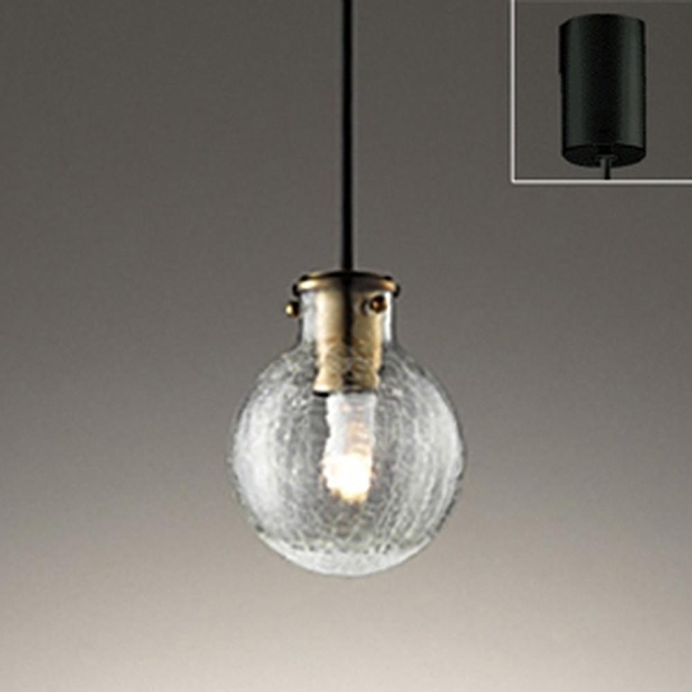 オーデリック LEDペンダントライト 引掛シーリングタイプ 白熱灯30W相当 電球色 ヒビ模様入ガラス OP252481LD1