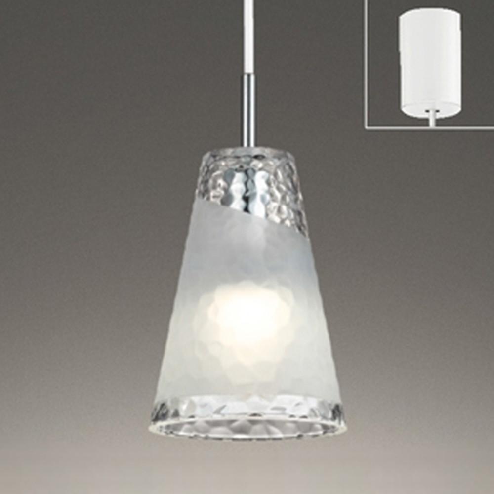 オーデリック LEDペンダントライト 《AQUA-Ice-》 引掛シーリングタイプ 白熱灯60W相当 電球色⇔昼白色 光色切替調光タイプ OP252543PC