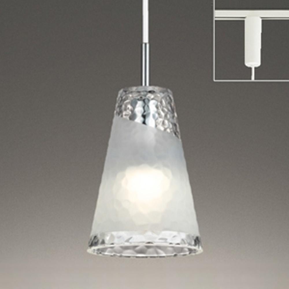 オーデリック LEDペンダントライト 《AQUA-Ice-》 ライティングレール取付専用 白熱灯60W相当 電球色⇔昼白色 光色切替調光タイプ OP252544PC