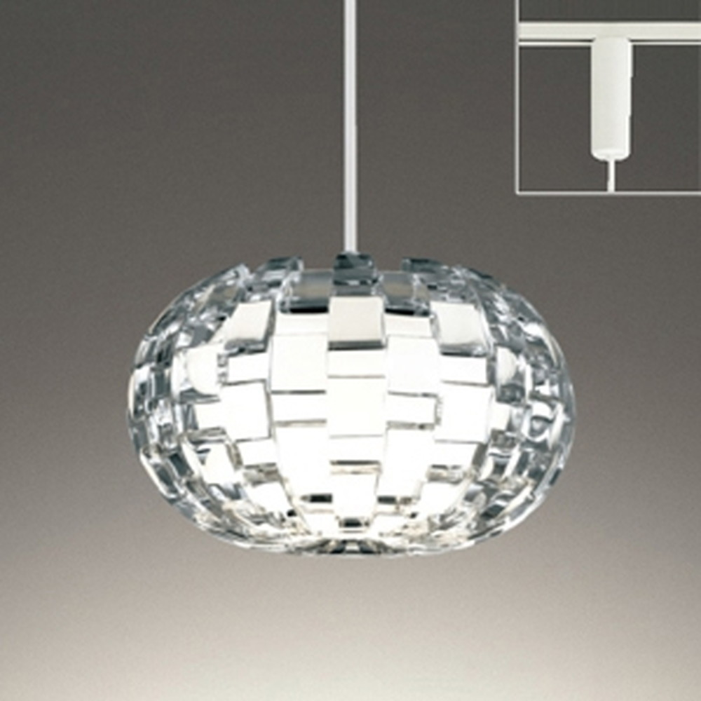 オーデリック LEDペンダントライト ライティングレール取付専用 白熱灯60W相当 電球色~昼光色 フルカラー調光・調色 Bluetooth®対応 OP252582BR