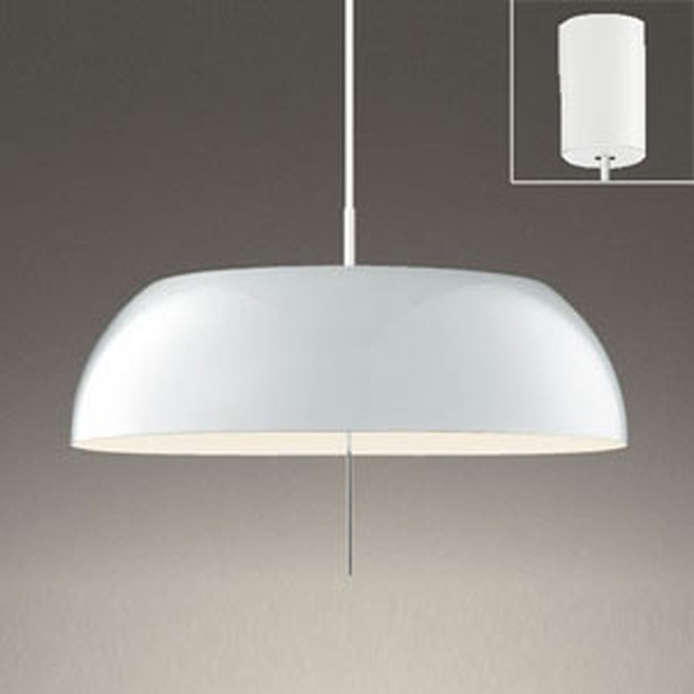 オーデリック LEDペンダントライト FCL30W相当 電球色・昼白色 光色切替調光タイプ プルスイッチ付 白 OP252589PC