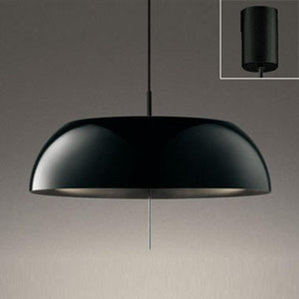 オーデリック LEDペンダントライト FCL30W相当 電球色 プルスイッチ付 黒 OP252591LD