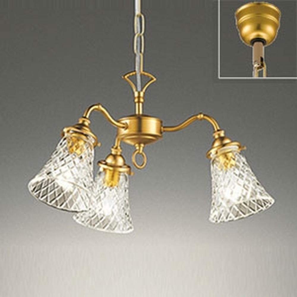 オーデリック LEDシャンデリア 白熱灯40W×3灯相当 電球色 調光タイプ OC257048LC