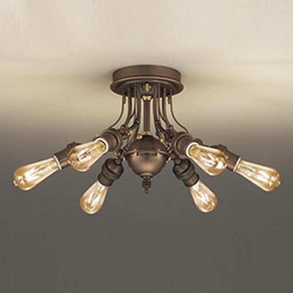 オーデリック LEDシャンデリア 《Steampunk》 ~4.5畳用 4.2W×6灯タイプ 電球色 調光タイプ OC257128LC