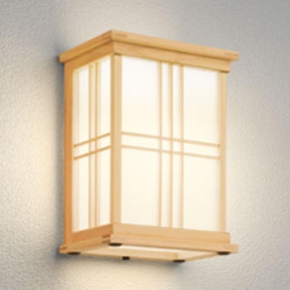 オーデリック LEDポーチライト 軒下取付専用 防雨型 白熱灯60W相当 電球色 別売センサ対応 檜 OG041708LC1