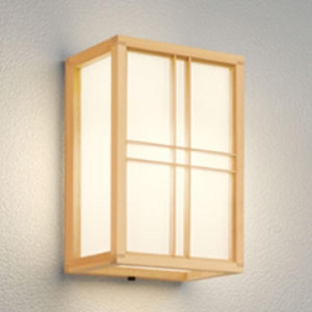 オーデリック LEDポーチライト 軒下取付専用 防雨型 白熱灯60W相当 電球色 別売センサ対応 檜 OG041709LC1