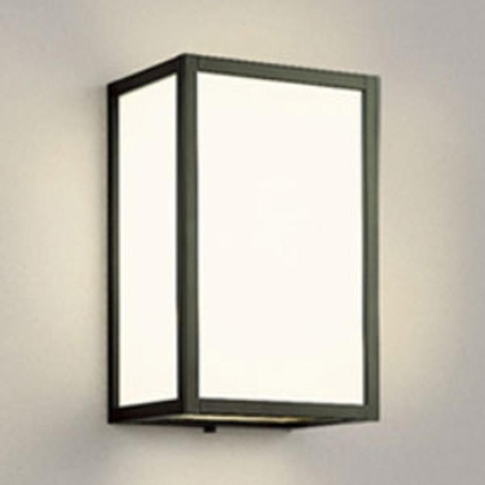オーデリック LEDポーチライト 軒下取付専用 防雨型 白熱灯60W相当 電球色 別売センサ対応 黒 OG041727LC1