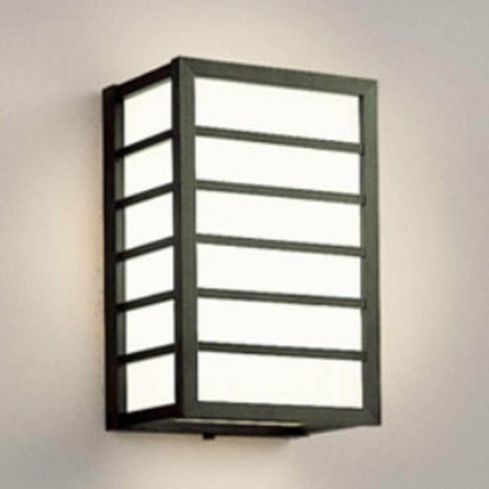 オーデリック LEDポーチライト 軒下取付専用 防雨型 白熱灯60W相当 電球色 別売センサ対応 黒 OG041728LC1