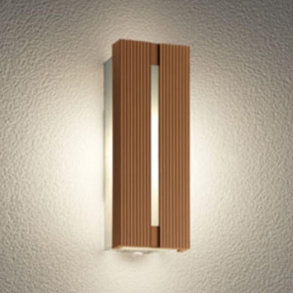 オーデリック LEDポーチライト 防雨型 電球色 人感センサ付 ブラウン OG254745LC