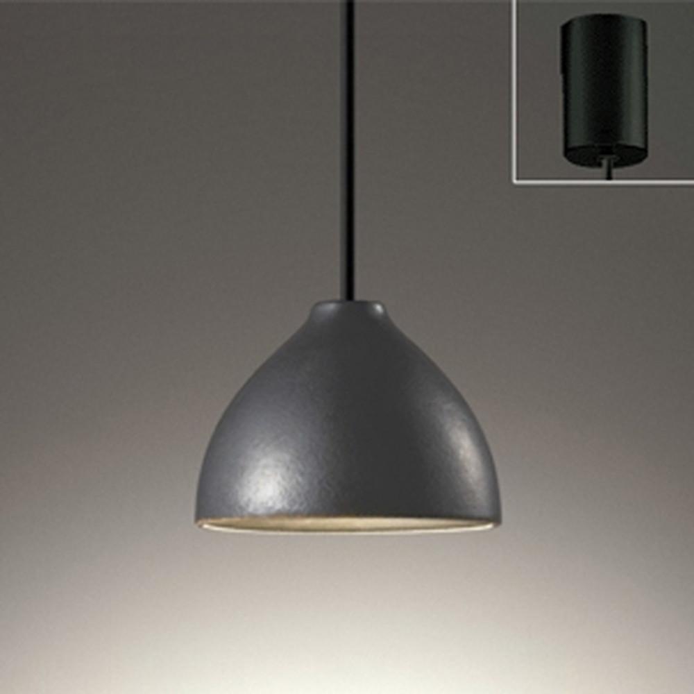 オーデリック LEDペンダントライト 引掛シーリングタイプ 白熱灯60W相当 電球色 鉄釉 OP252596LD