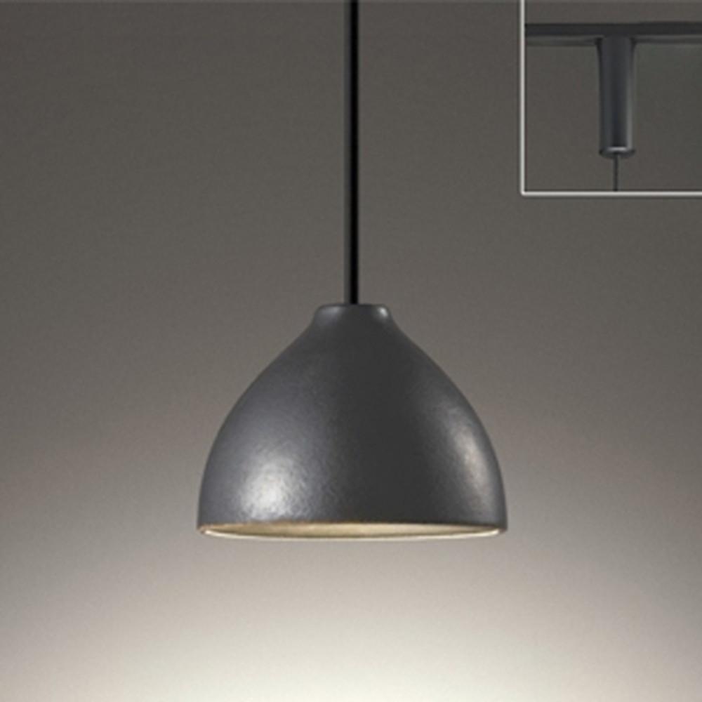 オーデリック LEDペンダントライト ライティングレール取付専用 白熱灯60W相当 電球色~昼光色 調光・調色 Bluetooth®対応 鉄釉 OP252597BC