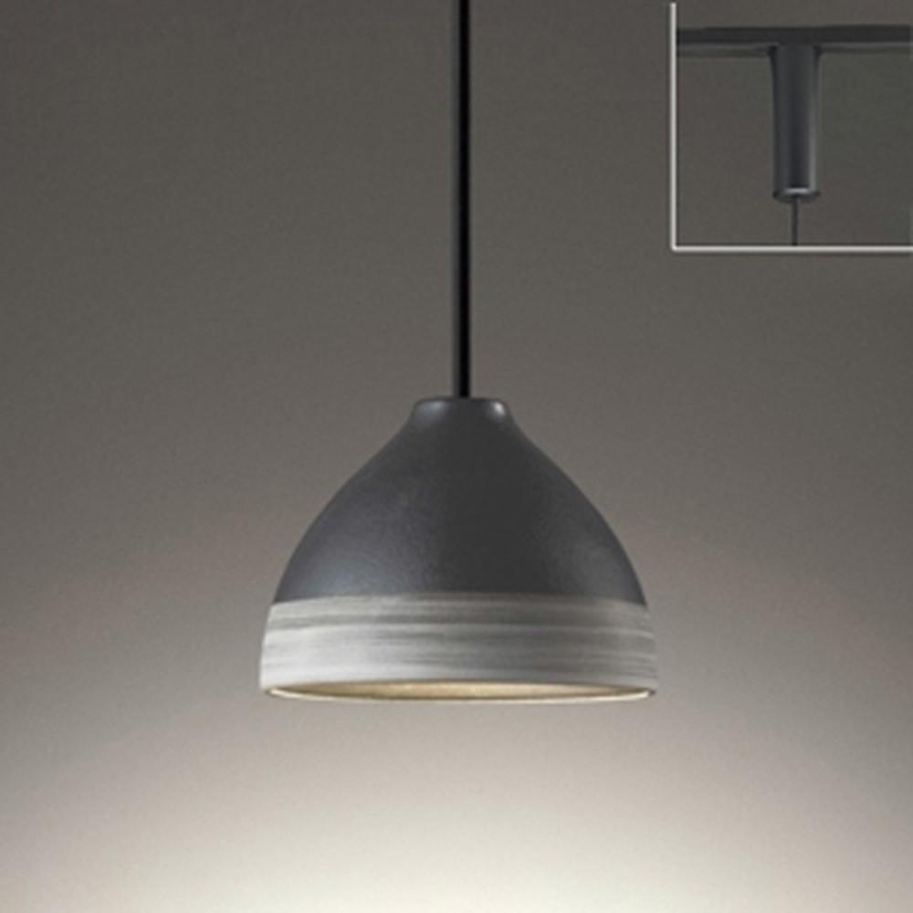 オーデリック LEDペンダントライト ライティングレール取付専用 白熱灯60W相当 電球色~昼光色 調光・調色 Bluetooth®対応 鉄釉・刷毛目入 OP252599BC