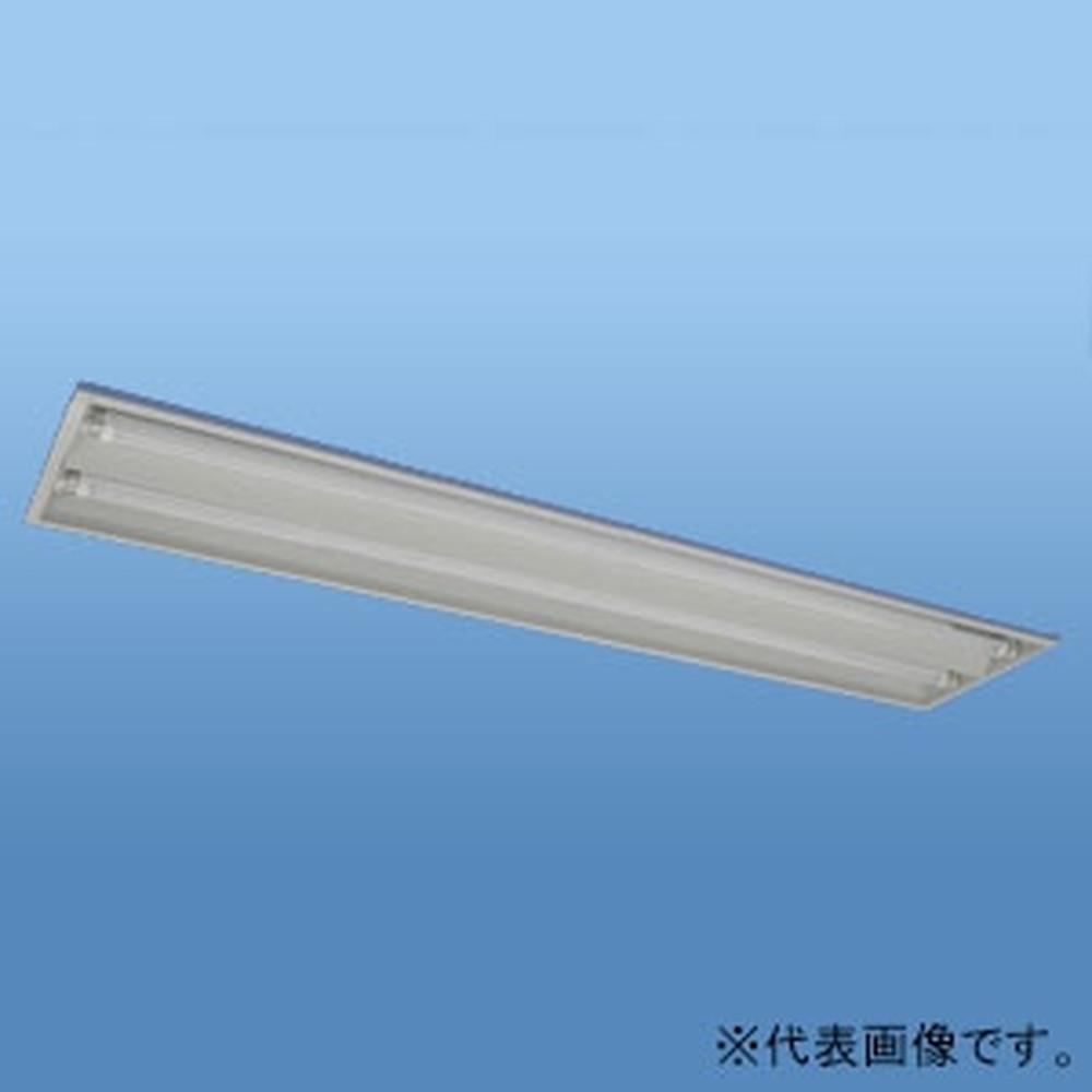 ナニワ 直管LEDランプ用器具 埋込型 40W型 2灯用 両側配線 全長1250mm NL-NU402W