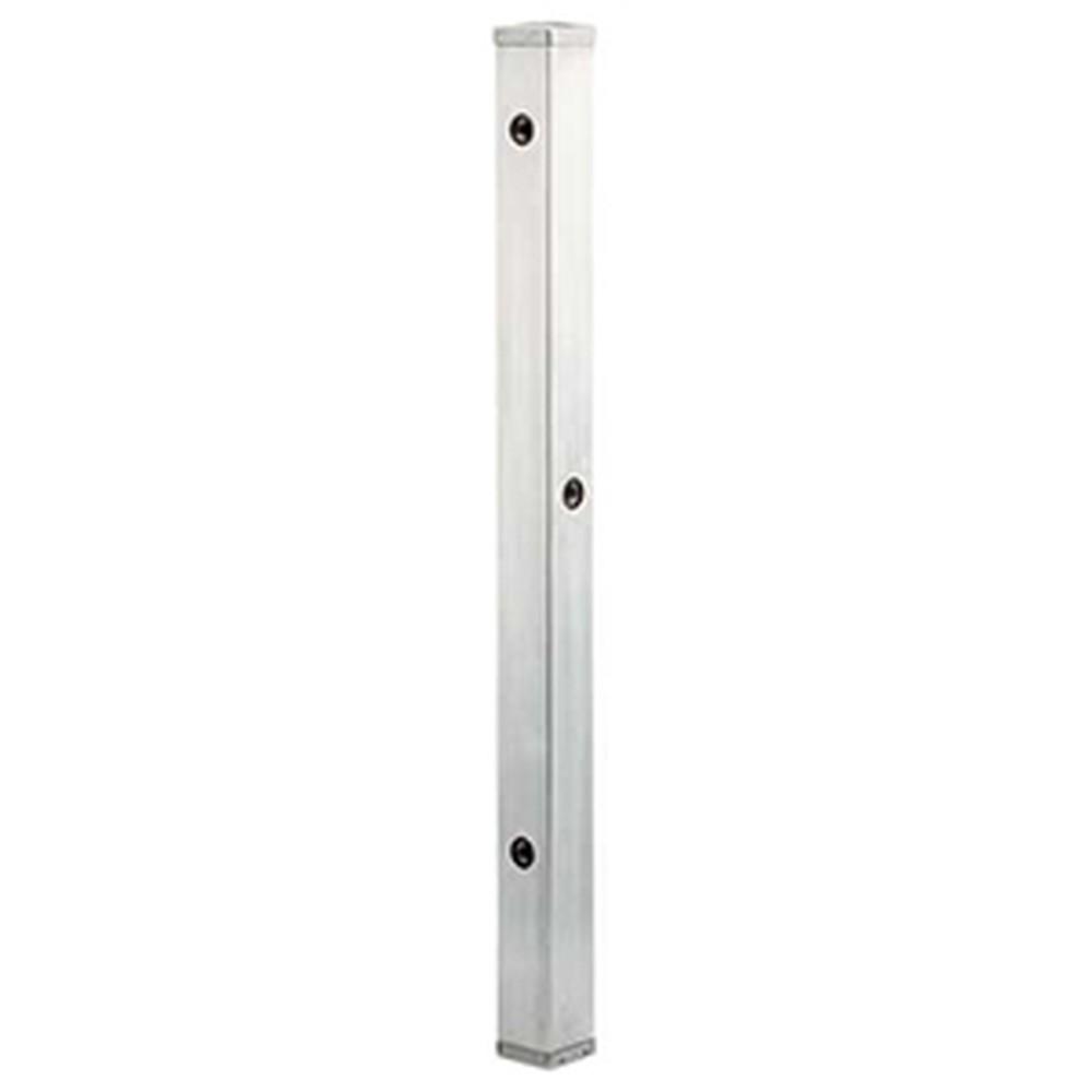 カクダイ ステンレス水栓柱 60角タイプ 長さ1200mm 分水孔付 ヘアライン仕上げ 624-115