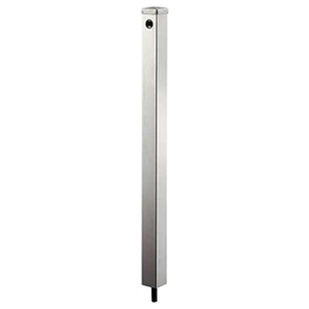 カクダイ ステンレス水栓柱 60角・下給水タイプ 長さ1200mm ヘアライン仕上げ 624-122