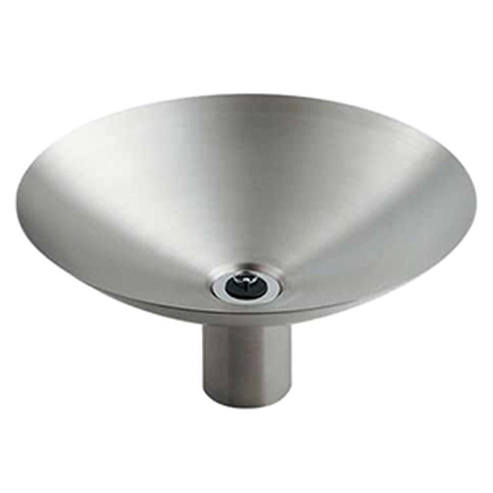 カクダイ ステンレス水鉢 深型 サイズφ400×194mm 排水金具・ゴム栓付 ヘアライン仕上げ 624-962