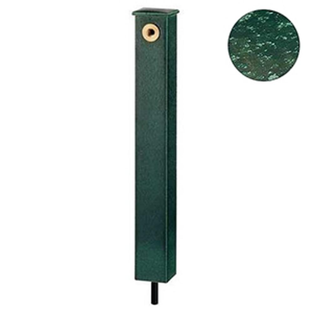 カクダイ 庭園水栓柱 角型 下給水タイプ 長さ710mm 濃茶 624-193