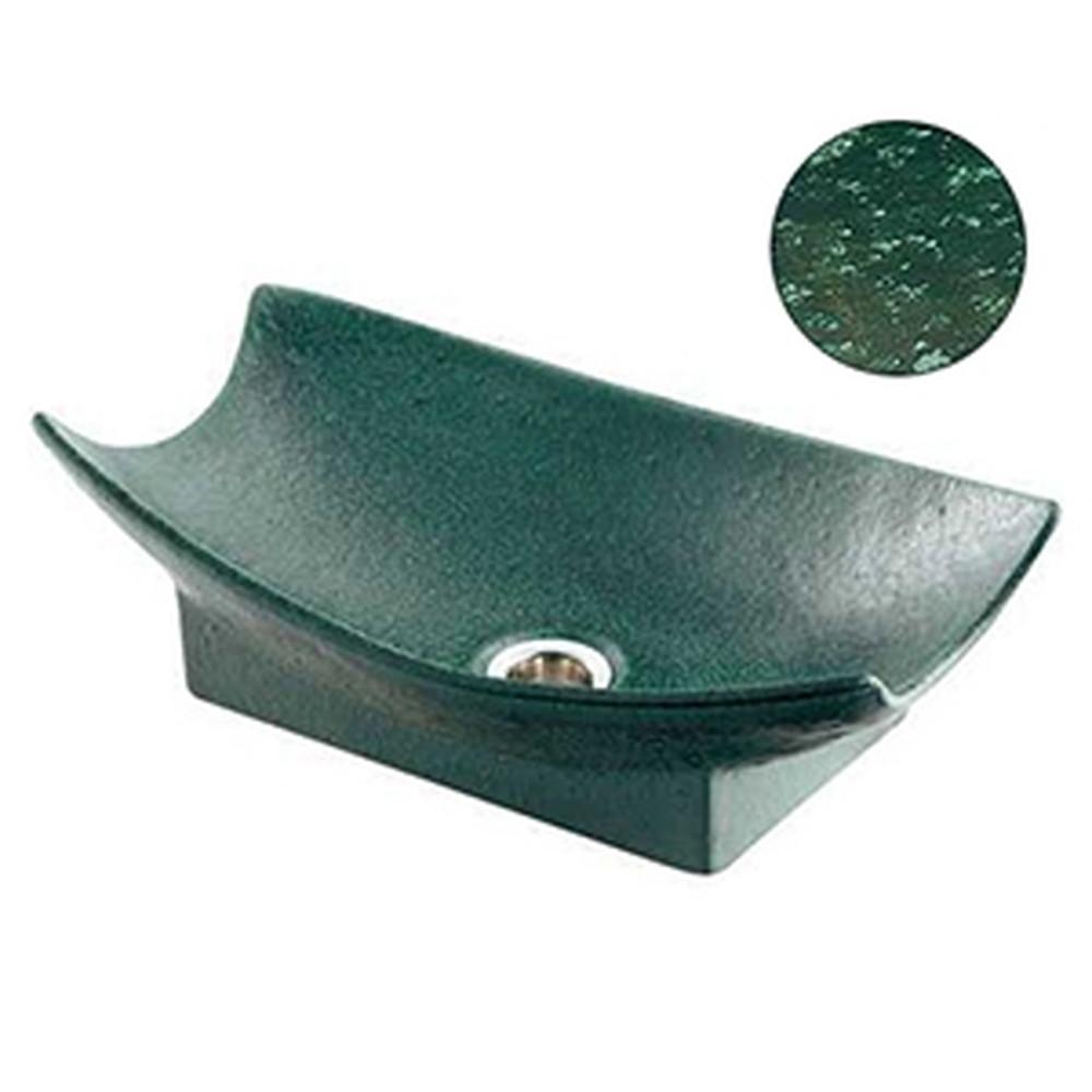 カクダイ 舟型手水鉢 サイズ420×240mm 排水金具付 ゴム栓なし 濃茶 624-934