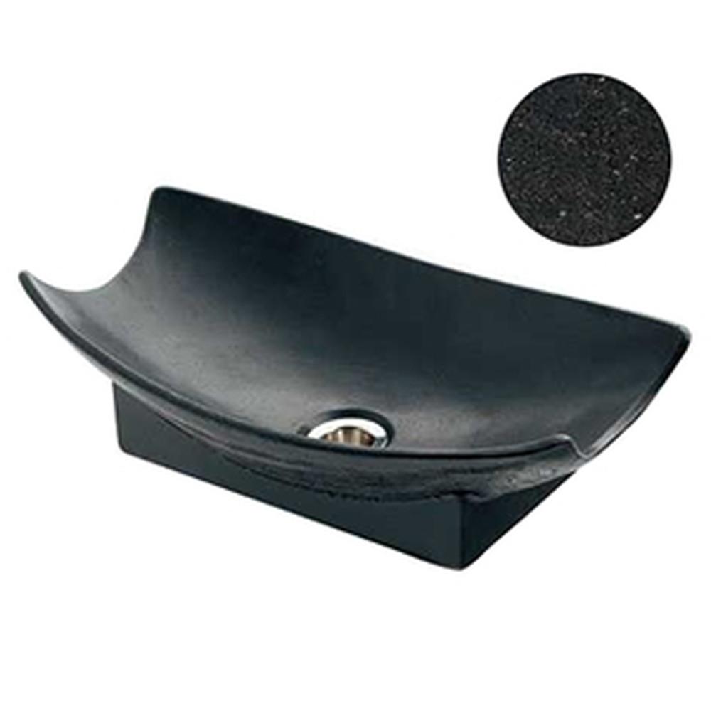 カクダイ 舟型手水鉢 サイズ420×240mm 排水金具付 ゴム栓なし 砂鉄 624-935
