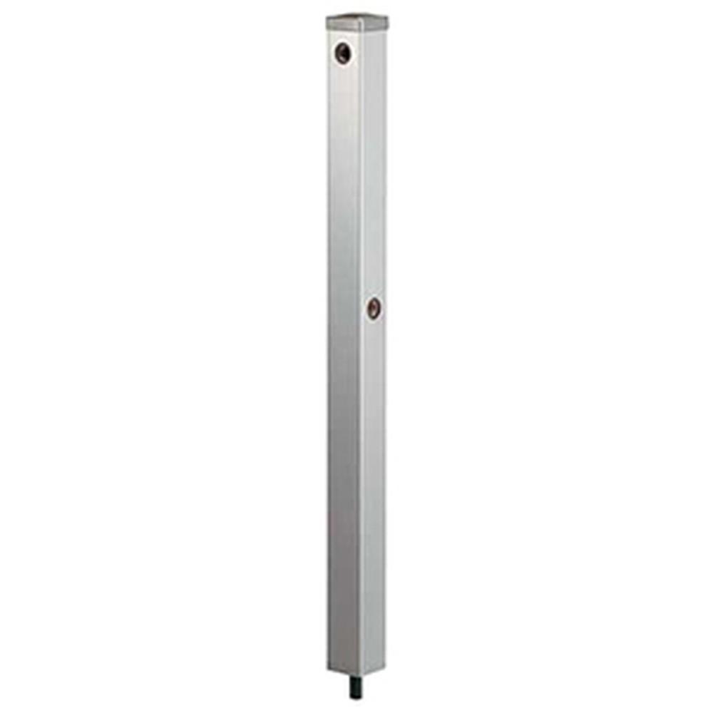 カクダイ ステンレス水栓柱 60角・下給水タイプ 長さ900mm 分水孔付 ヘアライン仕上げ 624-124