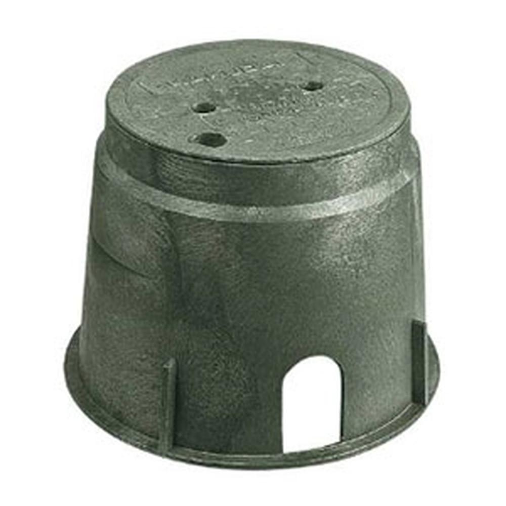 カクダイ 電磁弁ボックス 丸型 電磁弁(サイズ13~25)・減圧弁収納用 504-011