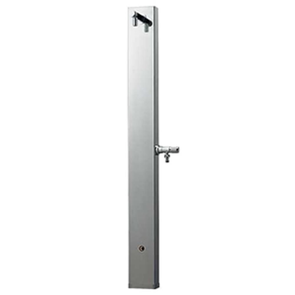 カクダイ ステンレス水栓柱 単水栓タイプ 取付ネジM16×1.0 長さ1200mm ホース接続用水栓付 ヘアライン仕上げ 624-107