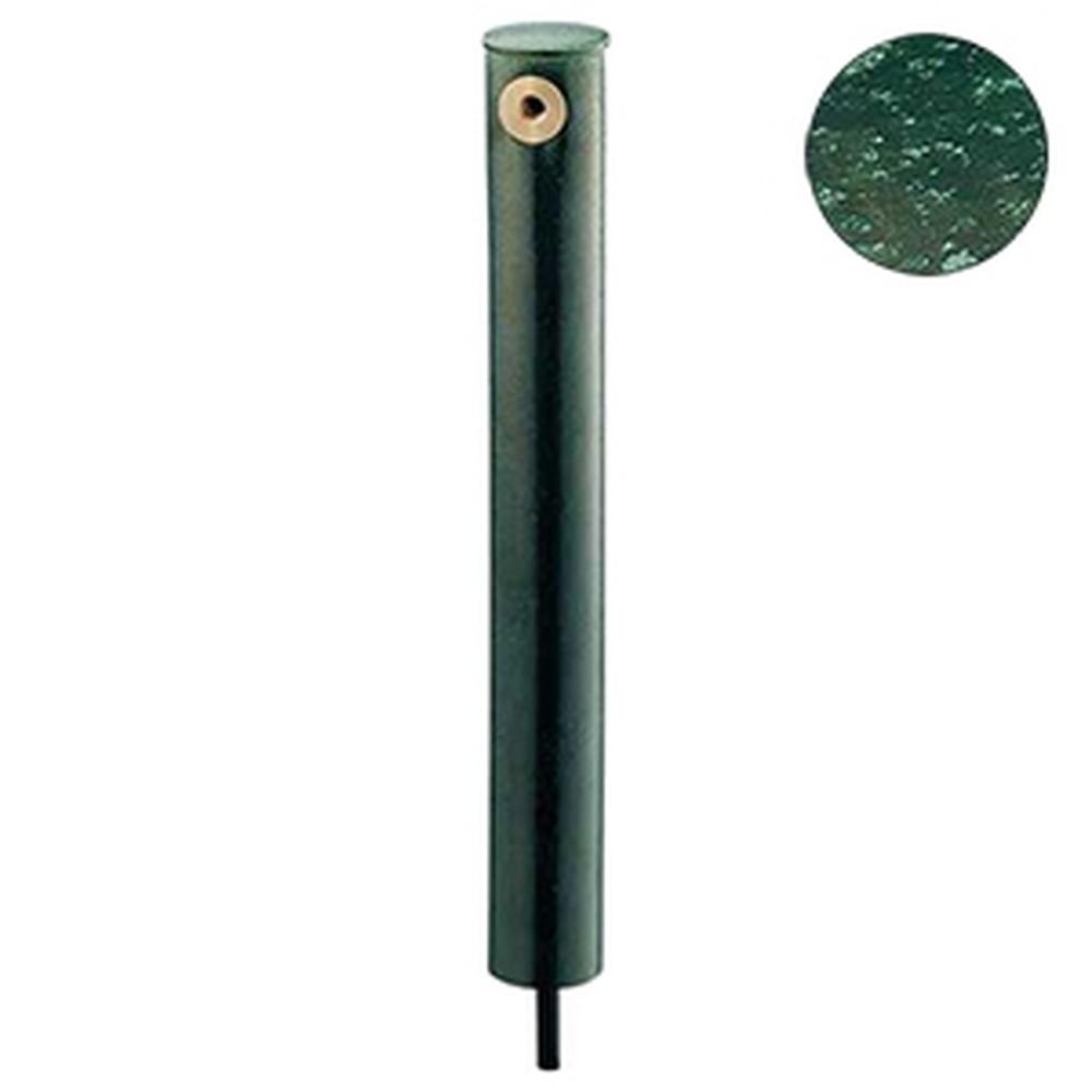 カクダイ 庭園水栓柱 丸型 下給水タイプ 長さ710mm 濃茶 624-143