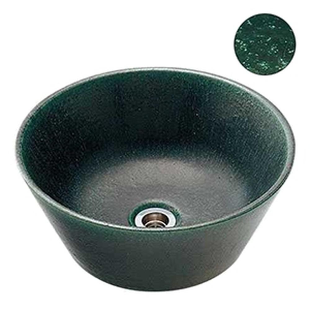 カクダイ 手水鉢 サイズφ350×150mm 排水金具付 ゴム栓なし 濃茶 624-941