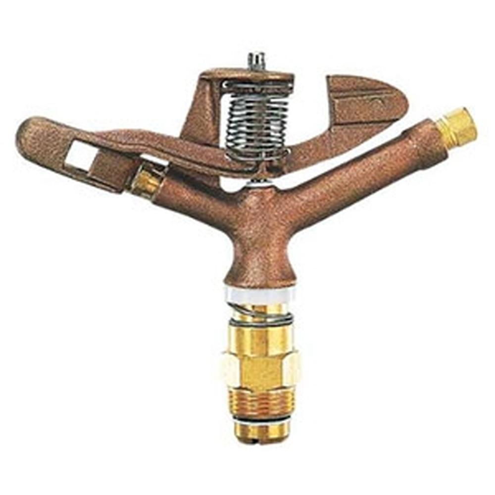 カクダイ スプリンクラー 双孔式 全回転タイプ 取付ネジR3/4 ノズル口径4.7×2.3mm 5479-25