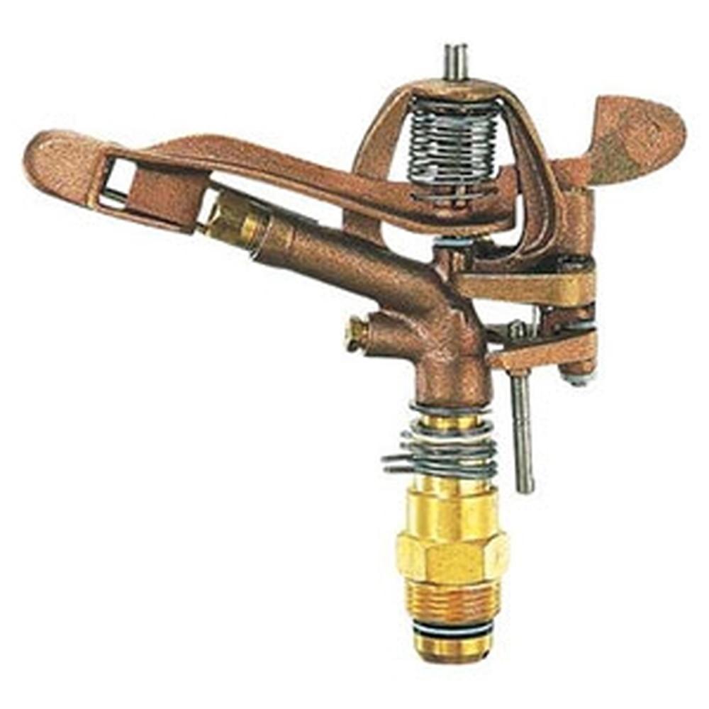 カクダイ スプリンクラー 二連双孔式 全回転・部分回転兼用 取付ネジR1 ノズル口径7.1×5.6mm 拡散ピン付 5480-25