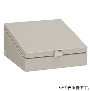 日東工業 コントロールボックス 小型FA用 傾斜付 防塵・防水形 片扉 鉄製基板付 横600×縦300×深160mm CD16-63A