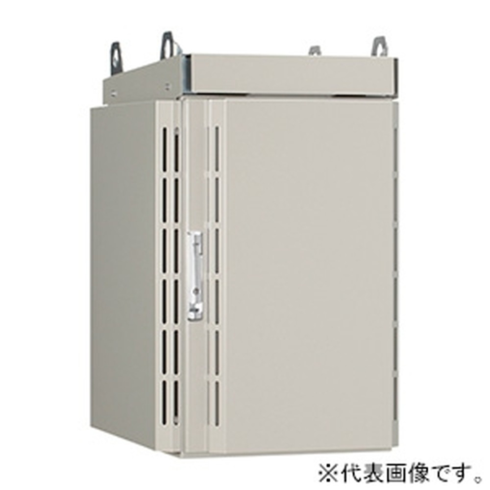 日東工業 屋外用熱対策通信キャビネット 《冷キャビ》 ポール用 19インチタテ置タイプ 6U 搭載可能熱量110W 熱交換器仕様 RCP50-565T-H10N