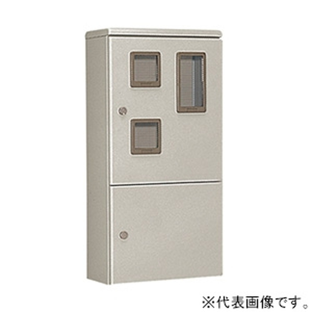 日東工業 ペデスタルボックス 汎用タイプ 2段片扉 木製基板付 横300×縦1000×深250mm HVP-310A