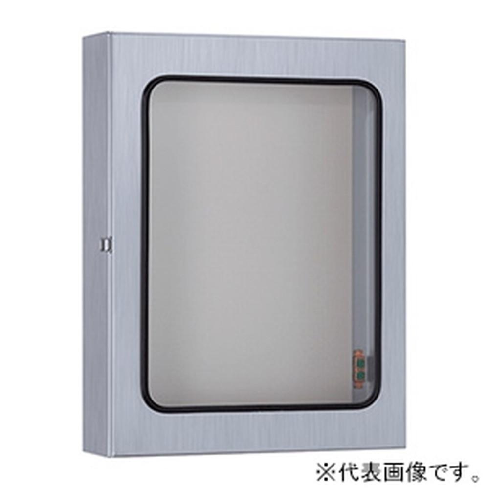 日東工業 ステンレス大型窓付キャビネット 片扉 鉄製基板付 横400×縦500×深200mm SW20-45N
