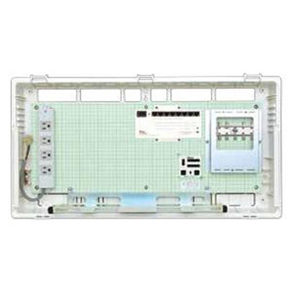 Abaniact 情報盤 ディープタイプ(深型) 4K・8K対応 収納タイプ 1ギガHUB8ポート搭載 ブースタなし AD-888F-00