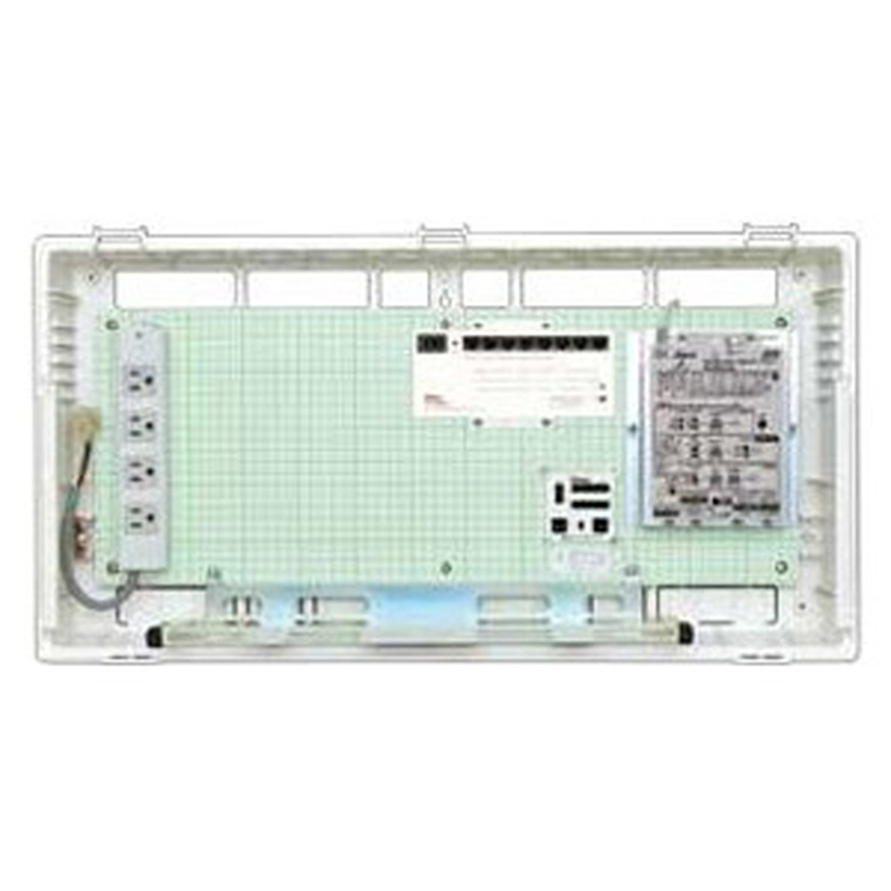 Abaniact 情報盤 ディープタイプ(深型) 4K・8K対応 収納タイプ 1ギガHUB8ポート搭載 マルチブースタ付 AD-888M-00