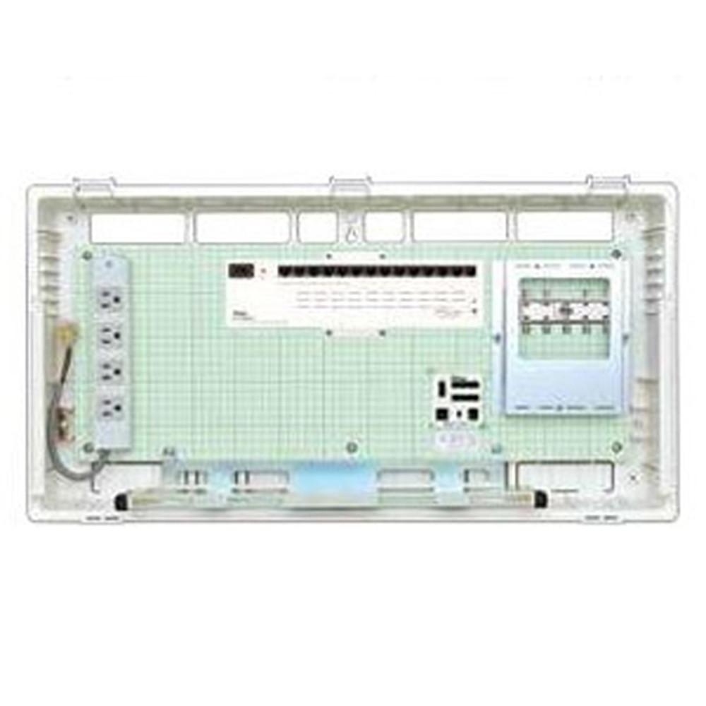 Abaniact 情報盤 ディープタイプ(深型) 4K・8K対応 収納タイプ 1ギガHUB14ポート搭載 ブースタなし AD-8148F-00