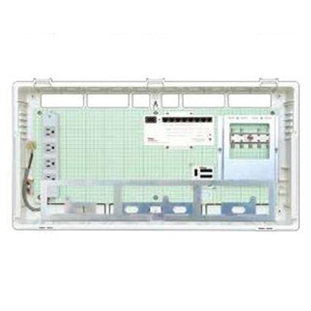 Abaniact 情報盤 ラージタイプ 4K・8K対応 収納タイプ 1ギガHUB8ポート搭載 ブースタなし AL-888F-00