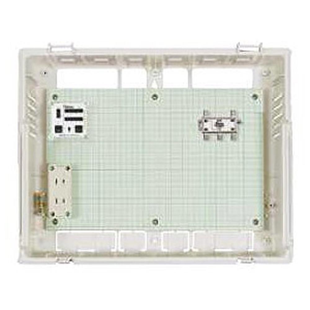 Abaniact 情報盤 スモールタイプ(浅型) 4K・8K対応 集合住宅向けTV4分配 外置きタイプ S-AB-804F-00