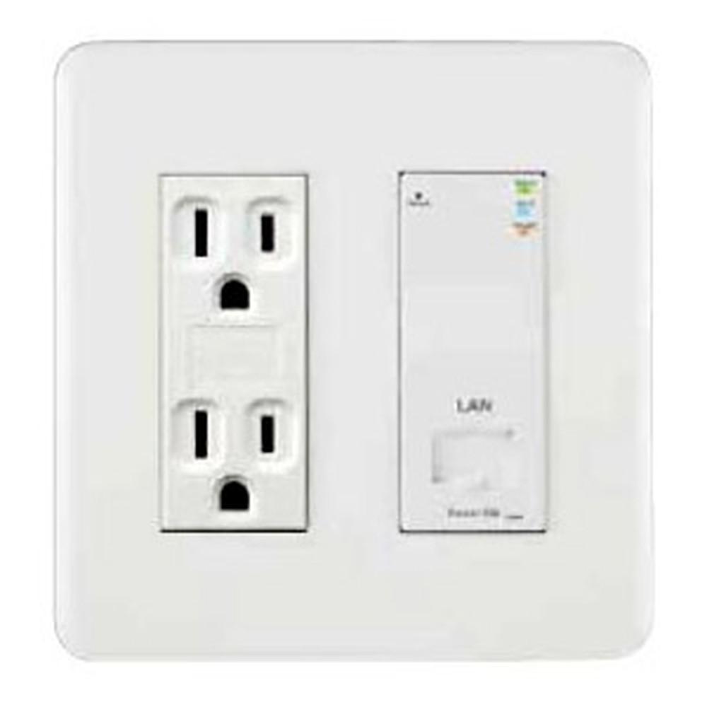 Abaniact Wi-Fi APユニット一体型情報コンセント 4K・8K対応 Cat5eタイプ Wi-Fi/LAN AC-22LW-01