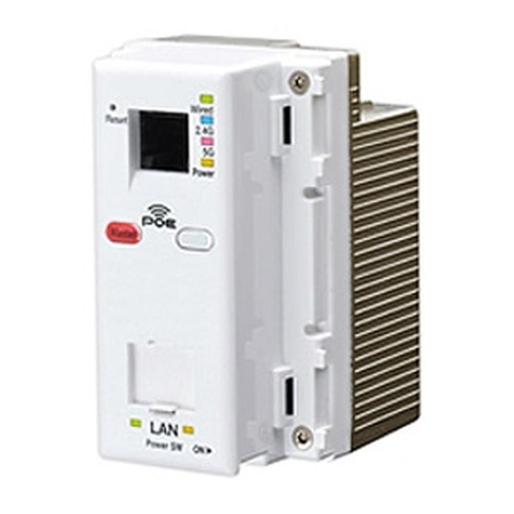 Abaniact Wi-Fi APユニット 11ac・866Mbpsタイプ コンセント埋込型 PoEタイプ TELポート付 AC-PD-WAPUM-11ac-P